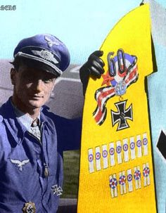 Major Josef  Wurmheller JG-53/ JG-2 (Richthofen) had a 102 kills. He scored 93 in West, 20 four engined heavy bombers, 56 Supersubmarine Spitfires! Sadly, he was killed in mid air collision over France in 1944. He was awarded KC/Oakleaves/Swords for valour. One of the lesser known aces.