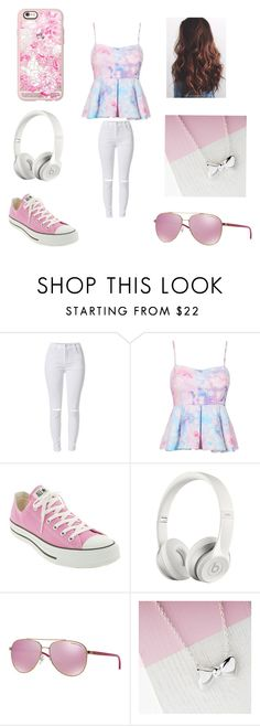 """""""FLOWERS"""" by enriquezs on Polyvore featuring Converse, Beats by Dr. Dre, Michael Kors, Casetify, women's clothing, women's fashion, women, female, woman and misses"""