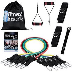 Resistance-Band-Set-11Pcs-Exercise-Bands-Fitness-Workout-Yoga-Band-Gym-Loop-New