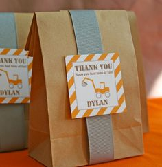 Favor Tags - Construction Birthday Party - PRINTABLE only. $5.00, via Etsy.