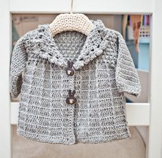 Crochet PATTERN   Baby Toddler Jacket