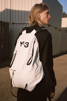 Campaign Focuses on Fluidity and Versatility: Filled with casual pieces for everyday wear. Black Backpack, Travel Backpack, Y 3 Yohji Yamamoto, Fabric Combinations, Campaign, Product Launch, Spring Summer, Backpacks, Bags
