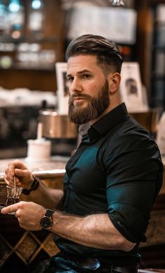 A beard now becomes the style statement for every man. Here are some of the trending beard styles for men that you will love experimenting. Trendy Mens Haircuts, Mens Hairstyles With Beard, Cool Hairstyles For Men, Cool Haircuts, Guy Haircuts, Men's Hairstyles, Trending Beard Styles, Beard Styles For Men, Hair And Beard Styles