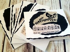 Love these black and white birds, great gift for my music friends!