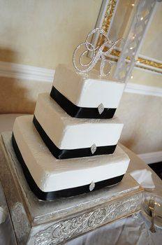 Wedding, Cake, Black