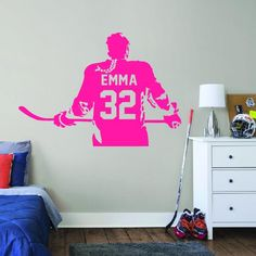ALL HOCKEY STICKERS Wall Stickers Room, Wall Decals, Hockey Room, Hockey Gifts, Decorate Your Room, Hockey Players, Wall Clocks, Super Easy, Kids Room
