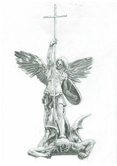 saint michael drawing - Google Search                                                                                                                                                                                 More
