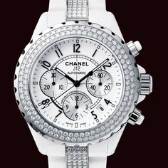Women designer watches Chanel Women's White Ceramic Bracelet Watch The Chanel brand, founded by Coco Chanell, is well known for hig. Patek Philippe, Cool Watches, Watches For Men, White Watches, Fancy Watches, Dream Watches, Ladies Watches, Stylish Watches, Chanel Watch