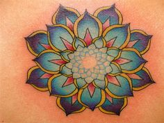 lotus mandala tattoo