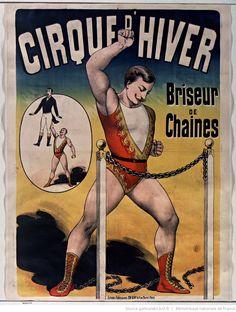 Cirque d'hiver. Briseur de chaines : [affiche] / [non identifié]