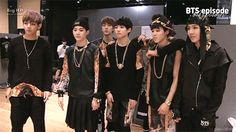 when BTS was asked to pose for a quick pic xD #bts #fabulous