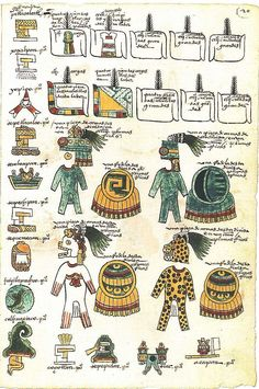 CODEX MENDOZA Lists the tribute towns were required to pay to the Aztec empire Ancient Aztecs, Ancient History, Mendoza, Machu Picchu, Aztec Society, American Art, American History, Native American, Mexican Army