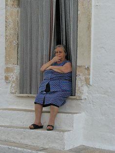 Old Italian Lady - Alberobello, Italy by Marionzetta, via Flickr