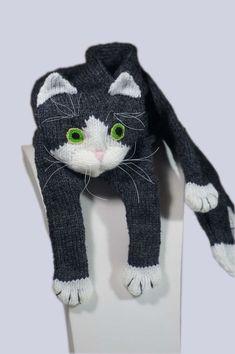 Cat-Schal Muster PDF-Datei eine Katze Schal Muster von Eastalace Mehr