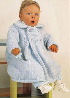 iKnitts: Patron para tejer un tapado de príncipe bebé