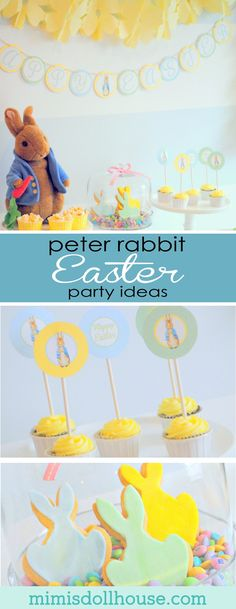 Easter Party: Here comes Peter Rabbit! I'm sharing a super sweet Easter party today themed around an Easter Childhood Favorite...Peter Rabbit. This party is full of cute Peter Rabbit themed Easter Party decorations. via @mimisdollhouse