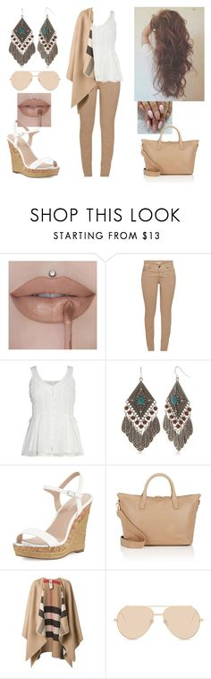 """Words can't bring me down..."" by paoladouka ❤ liked on Polyvore featuring Barbour, Red Camel, Charles by Charles David, Barneys New York, Burberry and Linda Farrow"