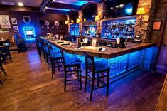 Installing a bar in your home is a great way to make sure that when you have company over everybody has a fun place to spend time together. A dedicated bar Basement Bar Designs, Home Bar Designs, Basement Ideas, Basement Bar Plans, Home Bar Plans, Diy Home Bar, Bars For Home, Home Bar Rooms, Bar Retro