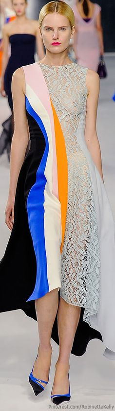 Christian Dior Resort 2014 Fashion Show - Anmari Botha Christian Dior Vintage, Runway Fashion, High Fashion, Fashion Show, Color Fashion, Vestido Multicolor, Beautiful Outfits, Cool Outfits, Cristian Dior