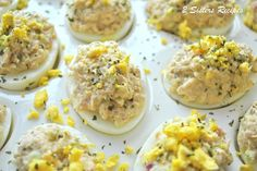 Wasabi Tuna Deviled Eggs – 2 Sisters Recipes by Anna and Liz