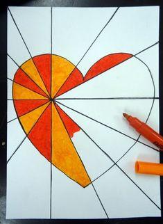 Alla hjärtans dag 2017 – åk 5 startar upp med OP-konst – Bil… – Holidays and Events Arte Elemental, Classe D'art, Art Classroom, Heart Art, Art Plastique, Art Activities, Elementary Art, Teaching Art, Doodle Art