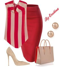 A fashion look from July 2017 by evelina-er featuring Juan Carlos Obando, Jimmy Choo, Christian Louboutin and Bloomingdale's. I'd pair it with a nude undershirt for modesty purposes. Fashion Looks, Work Fashion, Teen Fashion, Fashion Models, Womens Fashion, Fashion Trends, College Fashion, Fashion 2020, High Fashion