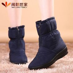 Snow boots 2016 Brand women winter boots plus size Fur Zip waterproof antiskid warm fashion women autumn bootsboots