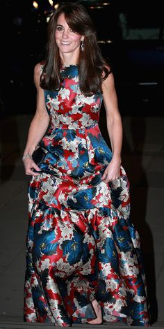 Kate Middleton Couldn't Look More Gorgeous in Her Floral Erdem Gown from InStyle.com