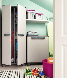 Tenere in ordine il #garage, la #lavanderia o il #ripostiglio?  Puoi farlo anche con stile. E con lo sconto del 20%!  #salvaspazio #madeinitaly #garage #laundry