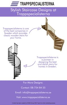 Get the best staircase designed for your home in Sweden by Trappspecialisterna. The experts at the company will help you design the best and stylish staircase in Sweden.