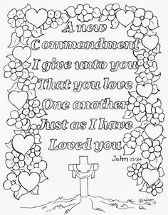 love one another bible verse coloring page