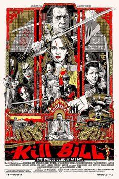 Kill Bill dokunaklı sonlar komedi dram film afiş karikatür