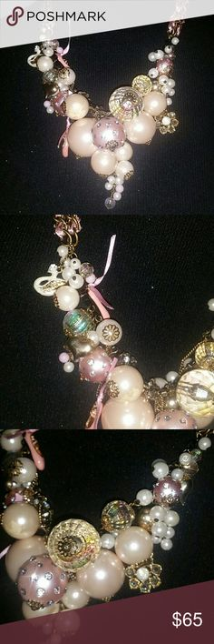 Betsey Johnson School Of Dance Ballet Necklace Huge Pearl Cluster Necklace School Of Dance Collection. *PRICE FIRM Betsey Johnson Jewelry Necklaces