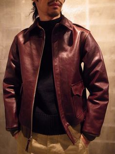 TYPE A-2 REAL McCOY MFG.CO. MJ12103 COLOR:055 / RUSSET BROWN