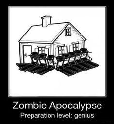 Zombie Apocalypse Survival, Zombie Apocolypse, Apocalypse House, Apocalypse Movies, Apocalypse Survivor, Blunt Cards, Memes Lindos, Funny Quotes, Funny Memes