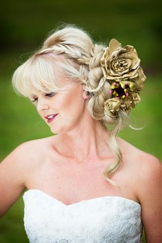 Devon based designer creating luxurious unconventional wedding decor & props for the creative artistic bride and groom. Hannah Taylor, Prop Styling, Gold Flowers, Headpieces, Hair Pieces, Crowns, Wedding Decorations, Groom, Bride