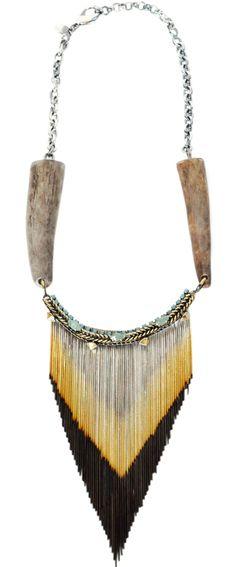 Iosselliani Aventurine & Horn Necklace