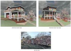 Proposed second floor Master Suite & Office Loft addition to Brick Rancher. Drawing Board, Second Floor, Master Suite, 1940s, Brick, Loft, Flooring, Mansions, House Styles