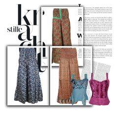 """Boho Silk Maxi Skirts"" by india-trendzs ❤ liked on Polyvore featuring maxiskirt, skirts, Bohemian and magicskirt"