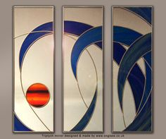 Triptych mirror designed & made by www.onglass.co.uk ready to be shipped to customer.
