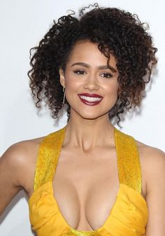 Nathalie Emmanuel goes for extreme cleavage in a yellow dress at LA Furious 7 premiere Beautiful Smile, Beautiful Black Women, Beautiful People, Beautiful Celebrities, Beautiful Actresses, Nathalie Emmanuel, Game Of Thrones, Pretty Face, Hair Trends