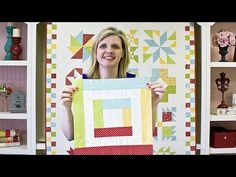 Wishes Quilt Along Block Five: Log Cabin - Fat Quarter Shop - YouTube
