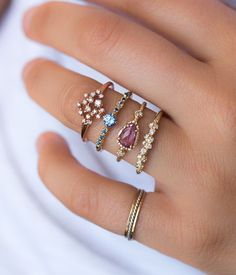 Rose Gold Glittering Diamond Ring - Audry Rose