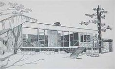 mid century architecture renderings
