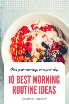 Some great morning routine ideas that you can start tomorrow, especially if you aren't sure where to begin.