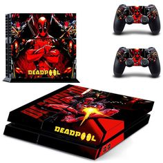 Video Games & Consoles Competent Deadpool Xbox One S Sticker Console Decal Xbox One Controller Vinyl Skin Video Game Accessories