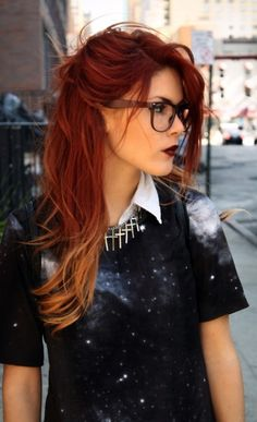 red ombre hair www. Burgandy ombre hair color idea - All For Hair Color Trending Burgandy Ombre Hair, Ombre Hair Color, Cool Hair Color, Red Balayage Hair, Red To Blonde Ombre, Red Purple Hair, Blonde Brunette, Hair Highlights, 2015 Hairstyles