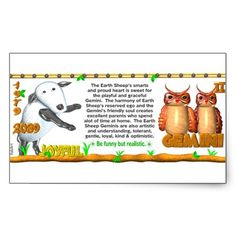 ValxArt Zodiac Earth Sheep Gemini born 1979 2039 Rectangle Stickers by valxart for $5.20  is one of 720  designs for the 60 years of the Chinese zodiac combined with each of 12 zodiac designs and forecast each used on several products . Valxart also has 12 zodiac cusp and 60 years of chinese zodiac. If you do not see desired year and zodiac sign contact info@valx.us for links to desired images.