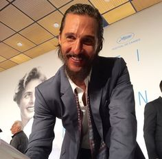 """Matthew McConaughey at the Cannes Film Festival on Last photo from here. Matthew Mcconaughey, Cannes Film Festival, Actors, Men, Actor"
