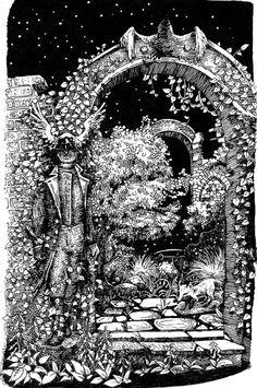 strangedailydraw: Another Jonathan Strange & Mr Norrell rendering. The raven king doorway.